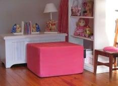 Faux suede pink smalla SNooZA