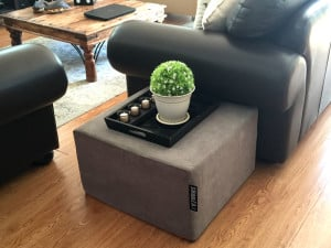 SNooZA used as a table in a lounge