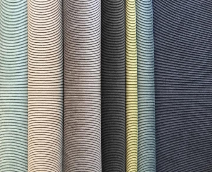 Hertex Jake colour range - duck egg / nougat / steel / elephant / soda / aquatic / sailor