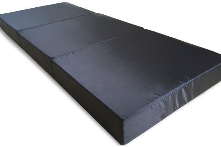 Folded out mattress